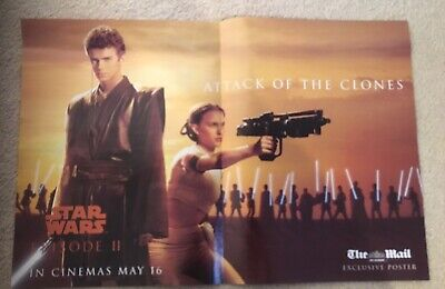 Star Wars Episode II Attack Of The Clones Double Sided Poster