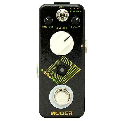 Mooer EchoVerb Digital Delay and Reverb Guitar Effects Pedal True Bypass