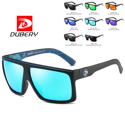 DUBERY Mens Fashion Vintage Polarized Sunglasses Driving Shades Eyewear UV400 ty
