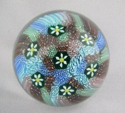 Org Vintage High Quality Art Glass- Murano Paperweight- Millefiori Canes- #18