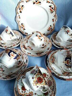 Vintage China Teaset Tea Cups & Saucers Cake Plates Imari Wedding Garden Party