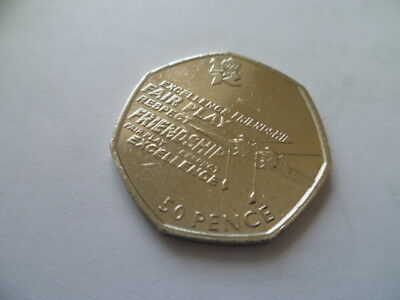 RARE ROWING - LONDON 2012 OLYMPICS - 50 pence coin / 50p - VERY COLLECTABLE