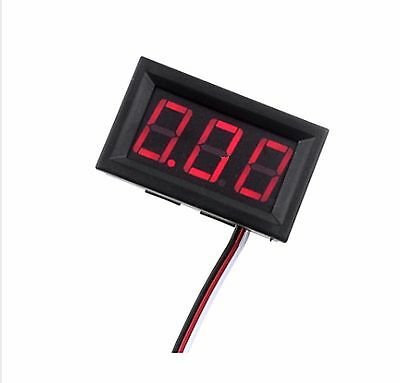 Red LED Digital Voltmeter Gauge Volt Voltage Panel Meter 4.5 + 30 VDC Volts DC