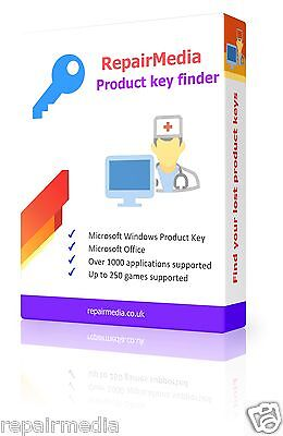 Product Keys Licence Finder Windows 10 8.1 8 7 Vista XP Recovery DVD PC Laptop