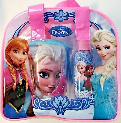 Girl's Disney Frozen Set, Eaude Toilette 3.4 FL Oz, Cup with Straw, Toiletry Bag