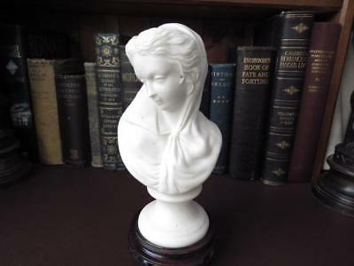 19th c Victorian Parian Bust Of A Lady