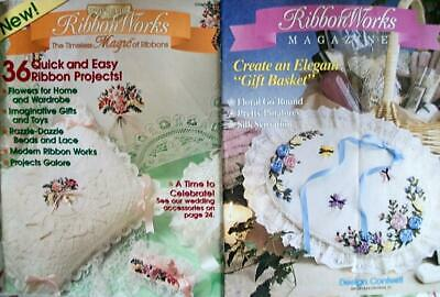 SALE-2 Ribbon Works Magazines-Charter Issue #1+#3-45+ Quick/Easy Ribbon Projects