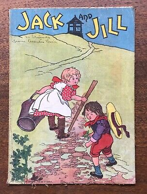 Antique McLoughlin Bros Linen Jack and Jill Children's Book
