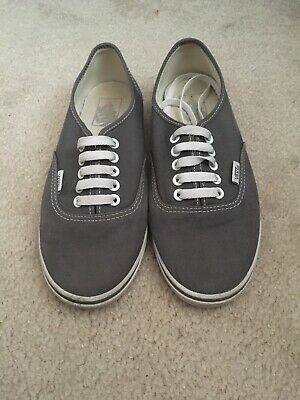 01f72a185c1b VANS women's size 8 sneakers - gray Authentic canvas lace-up athletic shoes