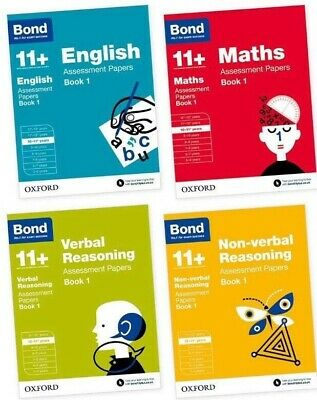 Bond 11+ Plus 10-11 Year Assessment Papers 4 Book English Maths Verbal & Non Ver