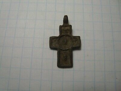 Ancient cross pendant  (13-15 century)  Metal detector finds 100% original