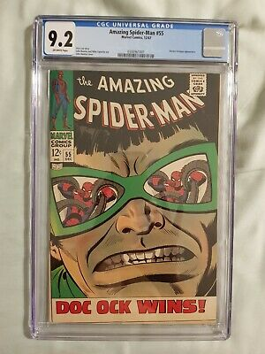 Amazing Spider-Man #55 CGC 9.2 Doctor Octopus, Stan Lee story 12/67