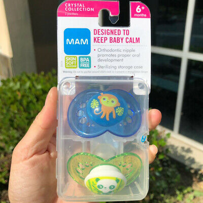 2 pack MAM Animal Design Pacifiers Baby 0m+  6m+ 12 month+ For Breastfed Babies