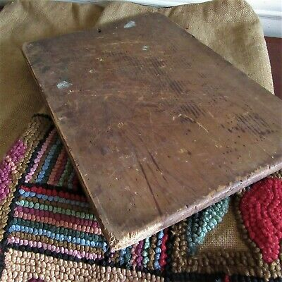 Antique PRIMITIVE Wood Bread Cutting Board PAINT GRUNGY FARMHOUSE TIMEWORN AAFA