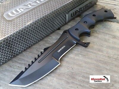NEW CSGO Tactical Black Huntsman Knife Fixed Blade CS:GO Bowie Survival Hunting