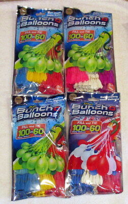 4 Zuro Bunch O Balloons 400 in All.  Self Sealing Water Balloons
