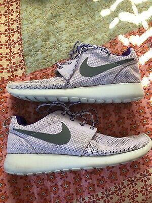 Details about Nike Roshe Run Woven Size 4 Grey Purple