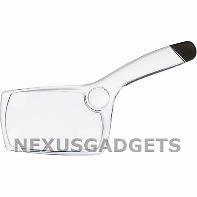Magnifying Glass Clear Magnifier See 2x3.5 Inch Double Lens Glasses Reading NEW