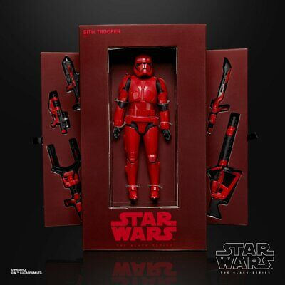 SDCC 2019 Hasbro Star Wars Black Series Sith Trooper and Boba Fett figures