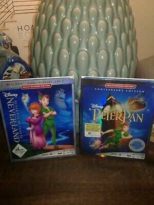 Disney's Peter Pan Signature Collection Bluray/dvd& Return To Never land