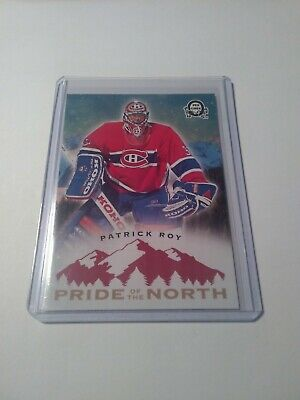 2018-19 O-Pee-Chee Coast To Coast Pride Of The North #P-53 Patrick Roy Sp