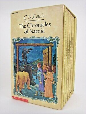 Chronicles of Narnia C. S. Lewis SEVEN book Box Set 1987 Scholastic Paperback