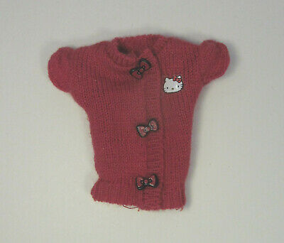 Barbie Hello Kitty 2008 Doll Red /& White Crop Jacket Top Model Muse Clothing