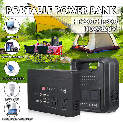 220V Solar Power Station Generator Storage Battery Charger Camping Outdoor