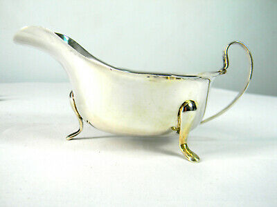 English Sterling Silver Sauce Boat  E. Viners Sheffield 1947 Hallmarked 925