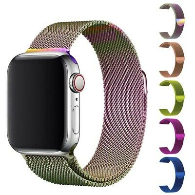Magnetic Milanese Stainless Steel Strap For Apple Watch Band 42mm 38mm 44mm 40mm