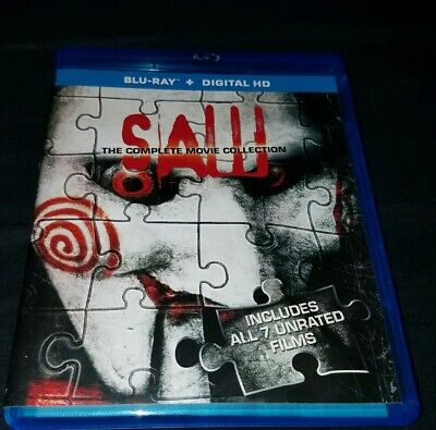 Saw: The Complete Movie Collection (Blu-ray, 2014, 3-Disc set)