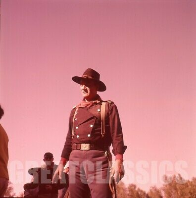 John Wayne John Ford Horse Soldiers 1959 2 1/4 Camera Transparency Peter Basch