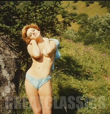 Lovely Nude Nature Model 2 1/4 Color Camera Transparency Peter Basch