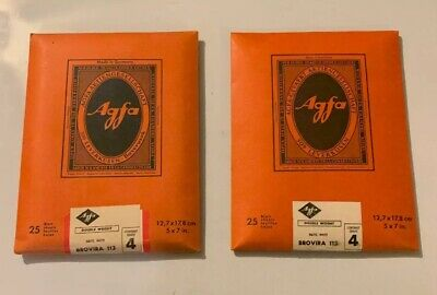 Vintage Agfa Brovira 113 Double Weight 50 Sheets 5x7 Inches