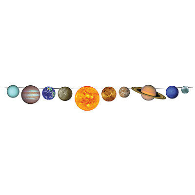Space SOLAR SYSTEM Planets Party Hanging Decoration PENNANT BANNER STREAMER