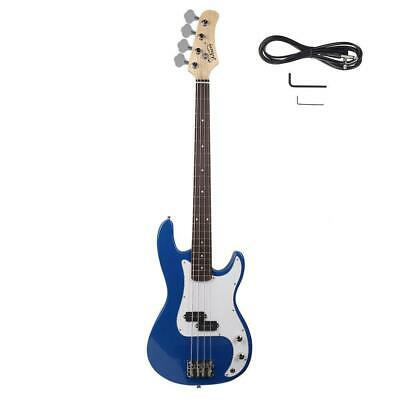 New Glarry Blue 4 Strings Right Handed Practice Electric Bass Guitar