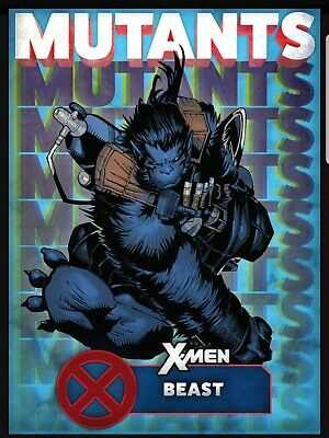 Topps Marvel Collect Card Trader X-Men Mutants Blue Beast Digital Insert