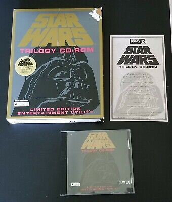 Star Wars Trilogy CD Limited Edition Entertainment Utility PC Big Box