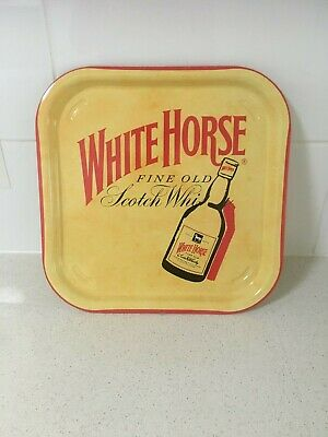 White Horse scotch whisky collectables metal tray