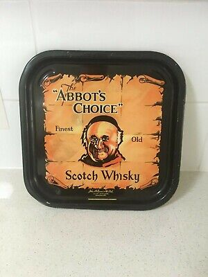 Abbots Choice scotch whisky collectables metal tray
