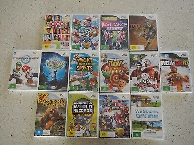 Wii game bundle - including Mario Kart and Super Smash Bros.
