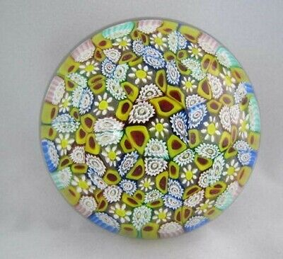 Org Vintage High Quality Art Glass- Murano Paperweight- Millefiori Canes- #62