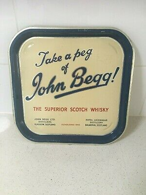 John Begg scotch whisky collectables metal tray