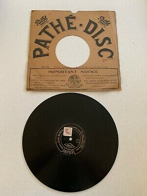 "9.5"" Pathe Phonograph Gramophone Record- Centre Start - Harry Lauder"
