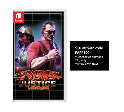 Raging Justice Nintendo Switch Strictly Limited Games Limited Run Sealed SoldOut