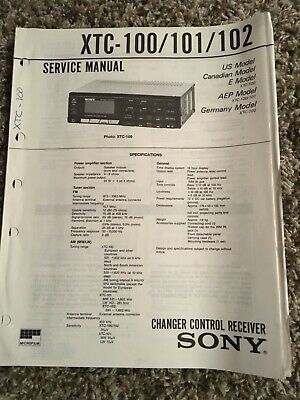 Sony Changer Control Receiver Service Manual XTC-100/101/102  Schematic Manual