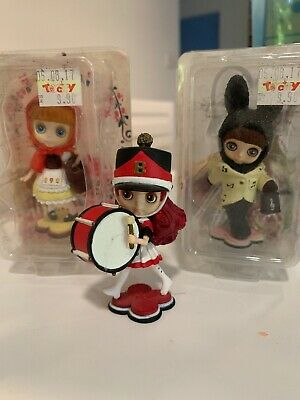Lot Of 3 RARE Blythe Miniature Figurines 2006 They Are 7-8cm Tall