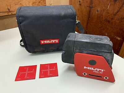 Hilti Pml 32 Laser Level W/ Stow Pouch + Fresh Batteries *Tested Working*