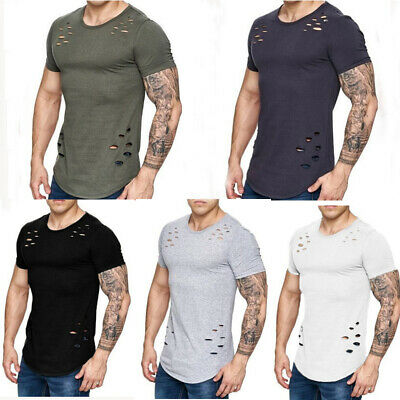 CA Men's Slim Fit O Neck Short Sleeve Muscle Tee T-shirt Casual Tops Blouse