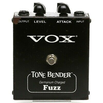 VOX TONE BENDER Germanium Charged Fuzz MODEL V829 Effect Pedal Made in USA